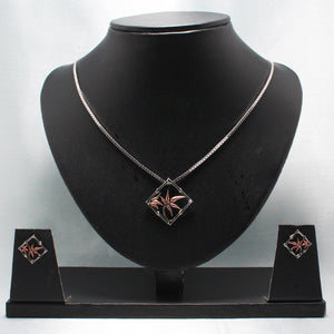 Belgian Evergreen Black Rhodium Set-GIVA Jewellery