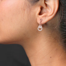 Load image into Gallery viewer, Rose Gold Drizzle Drop Earrings