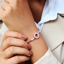 Load image into Gallery viewer, Rose Gold Baguette Sunshine Silver Bracelet-GIVA Jewellery