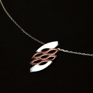 Wave Silver Pendant-GIVA Jewellery