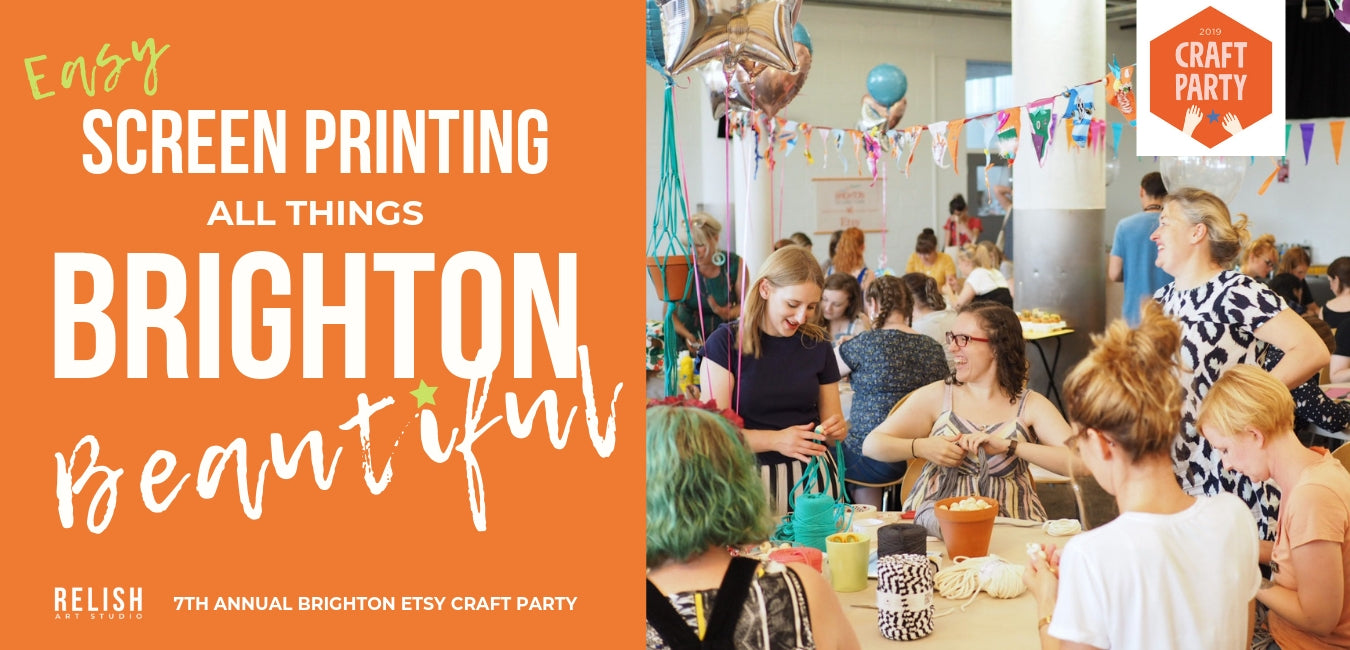 Relish Art Studio at Brighton Etsy Craft Party 2019