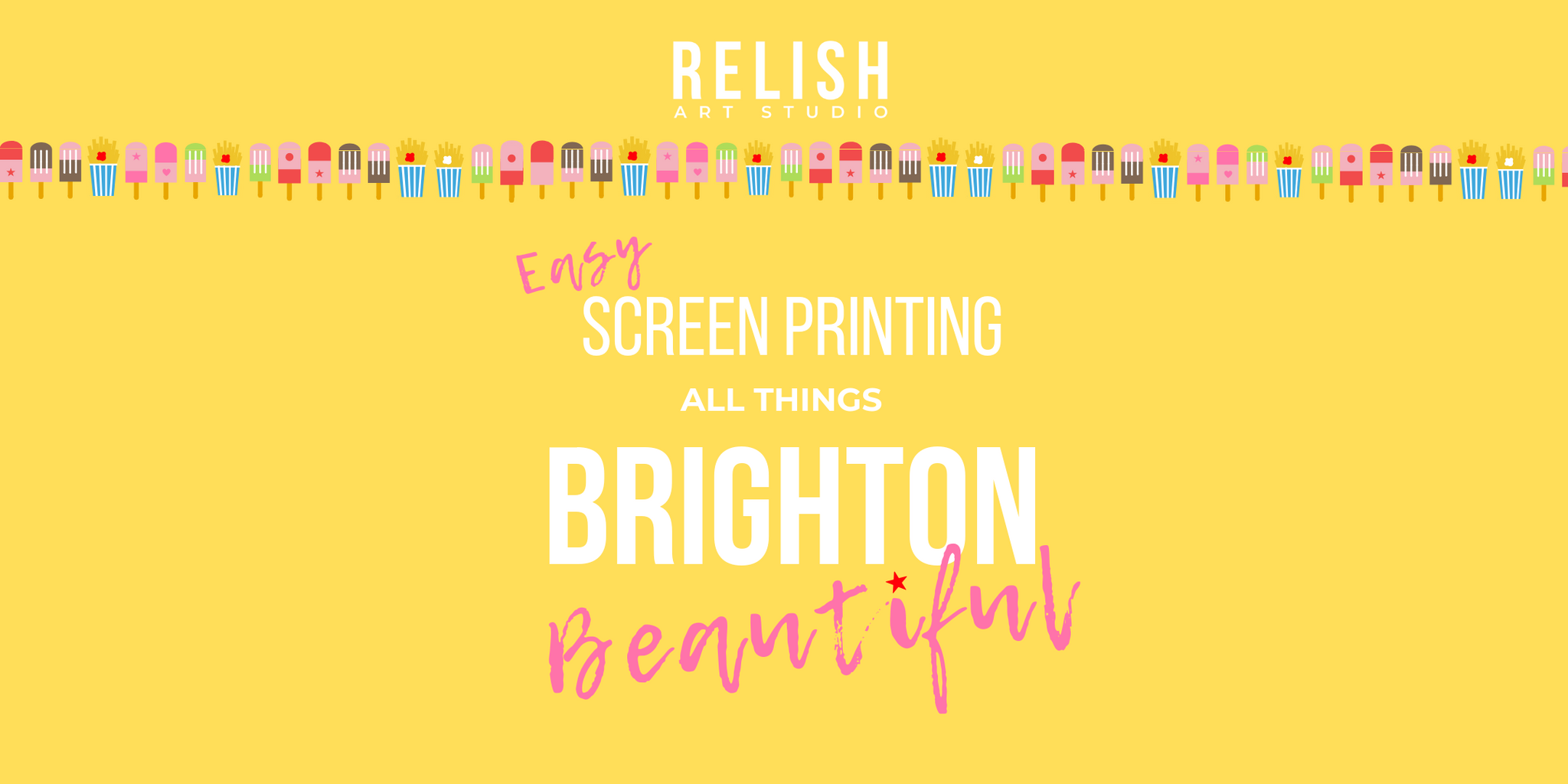 Relish Art Studio Brighton screen printing workshops