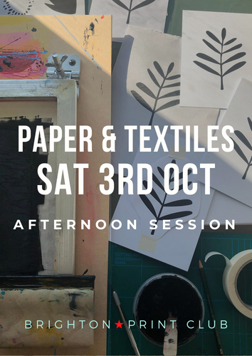 Screen Printing on Paper & Textiles | October Afternoon Session - Relish Art Studio