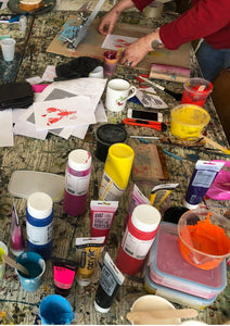 Screen Printing on Paper & Textiles | October Morning Session - Relish Art Studio