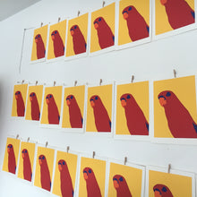 Load image into Gallery viewer, 'Red' the Red Lory Parrot - Relish Art Studio