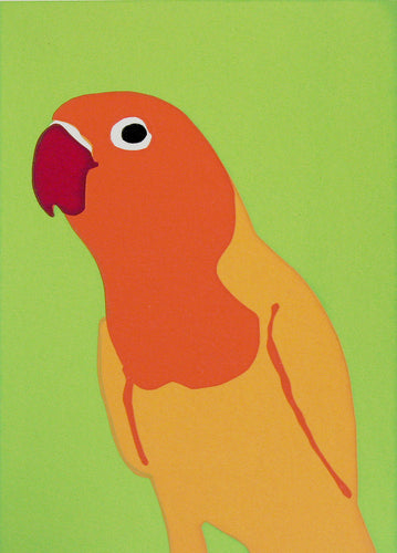 'Jim' the Lovebird - Relish Art Studio