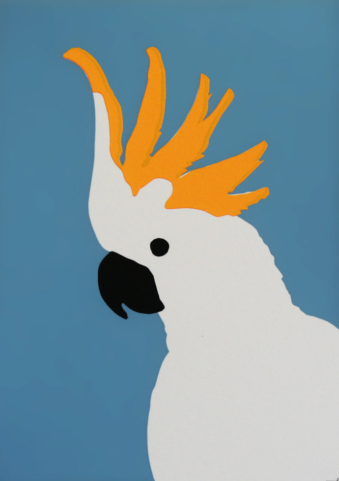 'Jude' the Sulphur-crested Cockatoo - Relish Art Studio