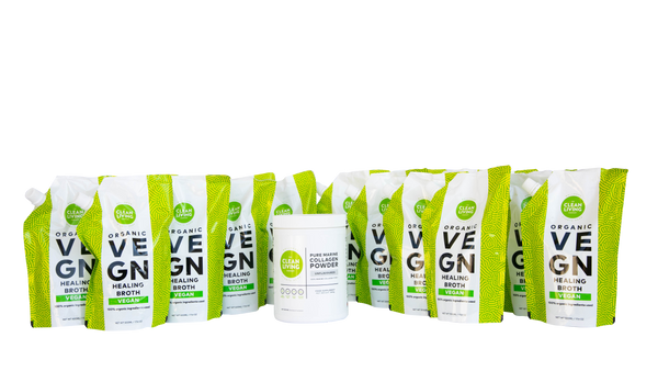 The Vegetarian Bundle: 1 Month Supply Vegan Broth & Marine Collagen
