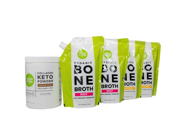 Collagen Keto Powder + One Week of Bone Broth supply