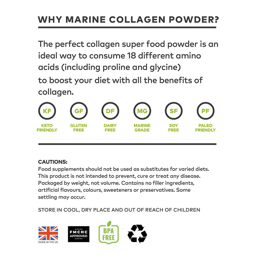 Collagen Beauty Bundle:  Marine Collagen (340g) and Pure Collagen (340g)