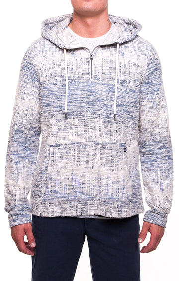 Roamer Knit Hooded Anorak W/Pull Over (White)