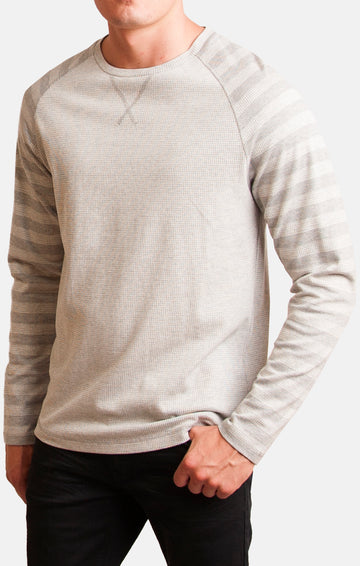 Waffles Raglan Thermal (Gray)