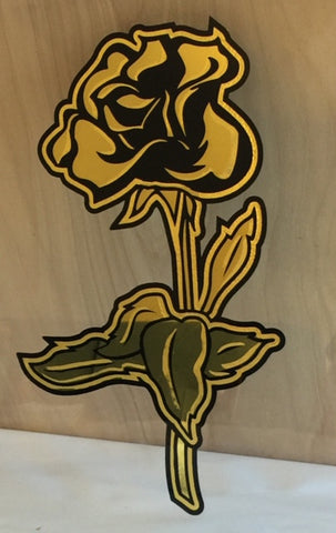 Shown with 23kt Gold Rose with optional Black Painted Outline