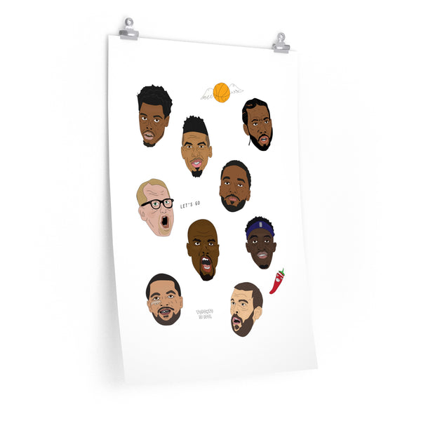 TORONTO BASKETBALL GUYS PRINT