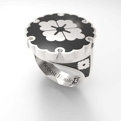 Bague Émail Collection-J No.08