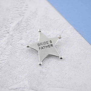A Pewter Bride's Father Sheriffs Badge - Multiply Design