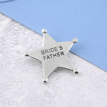 Load image into Gallery viewer, A Pewter Bride's Father Sheriffs Badge - Multiply Design
