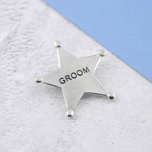 Load image into Gallery viewer, A Pewter Groom Sheriffs Badge - Multiply Design