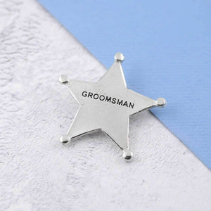 A Pewter Groomsman Sheriffs Badge - Multiply Design