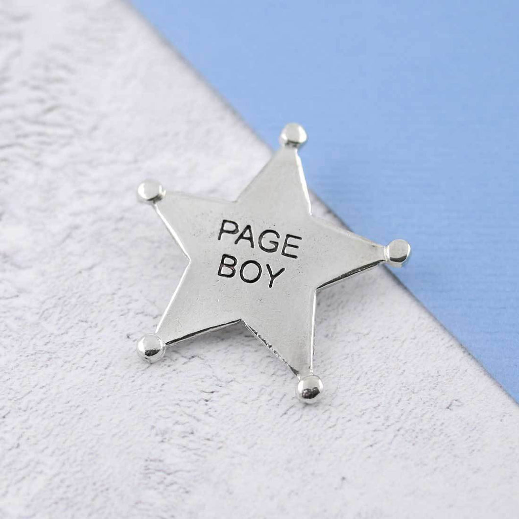A Pewter Page Boy Sheriffs Badge - Multiply Design