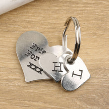 Load image into Gallery viewer, Friendship Gift Personalised Pewter Pocket Heart keyring - Multiply Design