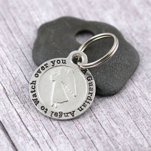 Guardian Angel Pewter Keyring Travellers gift - Multiply Design