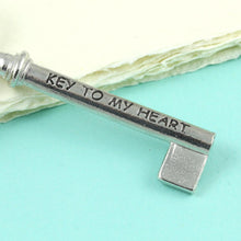 Load image into Gallery viewer, Ket to my Heart Pewter Key Keyring - Multiply Design