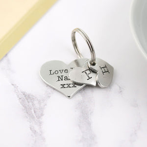 Love you Nan Pewter Pocket Heart Keyring - Multiply Design