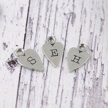 Load image into Gallery viewer, Nana Gift Long Heart Personalised Pewter Keyring. - Multiply Design