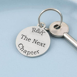 Next Chapter Personalised Round Pewter Keyring - Multiply Design