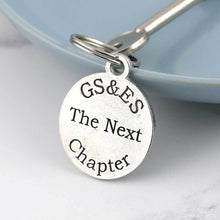 Load image into Gallery viewer, Next Chapter Personalised Round Pewter Keyring - Multiply Design