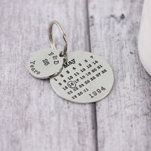 Load image into Gallery viewer, Personalised Anniversary Year Round Calendar Keyring - Multiply Design