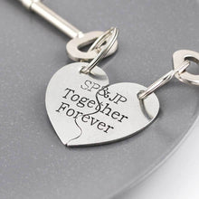 Load image into Gallery viewer, Personalised Split Heart Keyring Gift for Couples - Multiply Design
