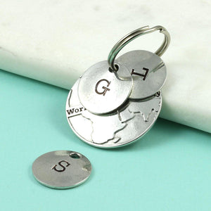 Personalised Worlds Best Mummy Pewter keyring. - Multiply Design