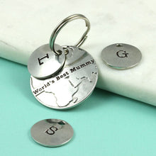 Load image into Gallery viewer, Personalised Worlds Best Mummy Pewter keyring. - Multiply Design