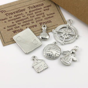 Pewter Travel Token Travellers Gift Set - Multiply Design