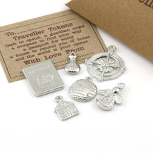 Load image into Gallery viewer, Pewter Travel Token Travellers Gift Set - Multiply Design