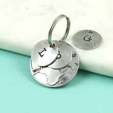 Load image into Gallery viewer, Pewter World's Best Daddy Personalised Keyring Gift - Multiply Design