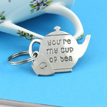 Load image into Gallery viewer, Tea Drinkers My Cup of Tea Pewter Keyring for Tea lovers and just Lovers - Multiply Design