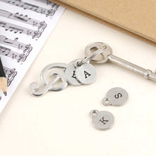 Load image into Gallery viewer, Treble Clef Pewter Keyring. - Multiply Design