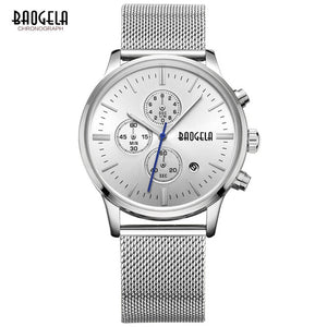 Stainless Steel Mesh Band Chronograph