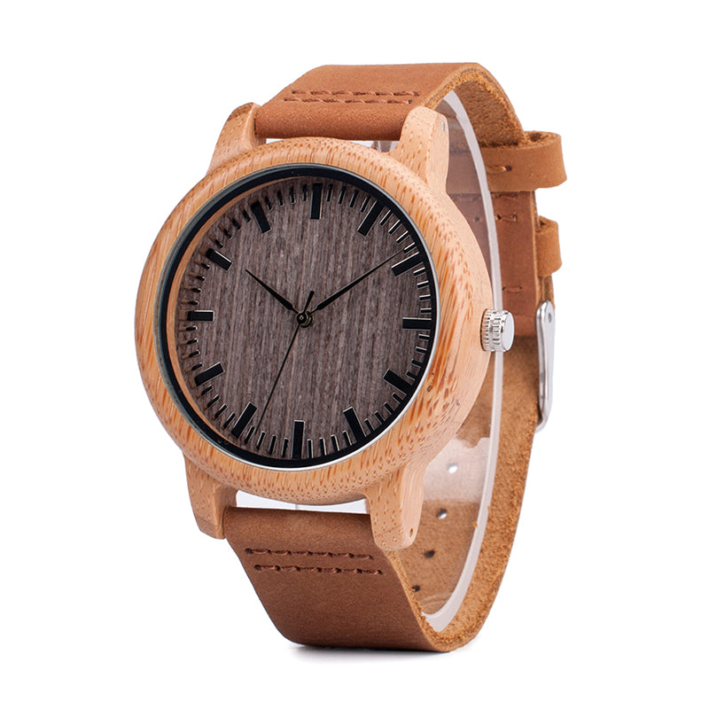 Bamboo Quartz Wristwatch