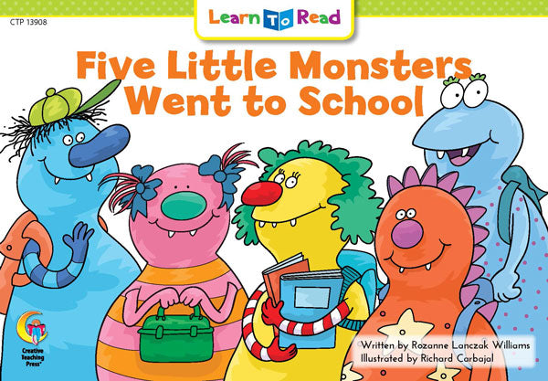 Five Little Monsters Went to School