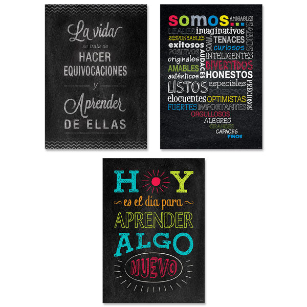 Chalk It Up! Spanish Inspire U 3-Poster Pack