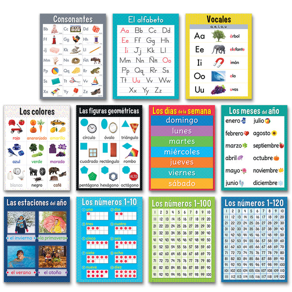 Spanish Basic Skills Chart Pack