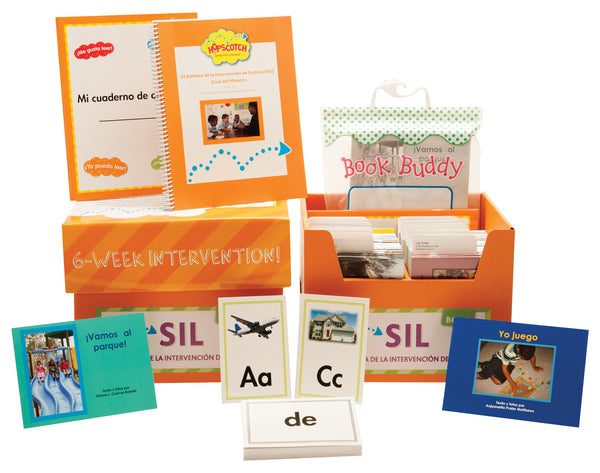 Hopscotch El Sistema de la Intervención de Lectura (SIL) - Levels A-C Orange Kit