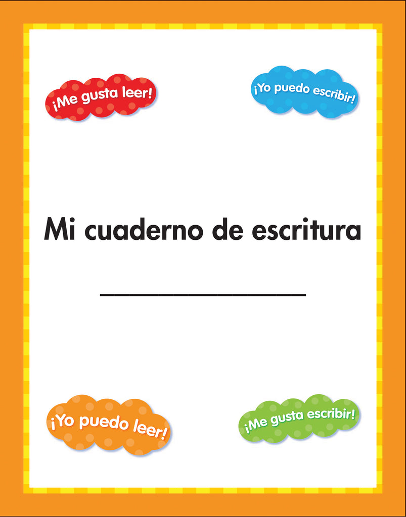 Hopscotch writing notebook -spanish