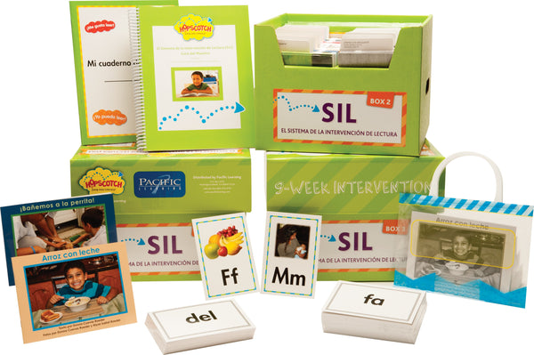 Hopscotch Digital El Sistema de la Intervención de Lectura (SIL) – Levels D-I Green Kit