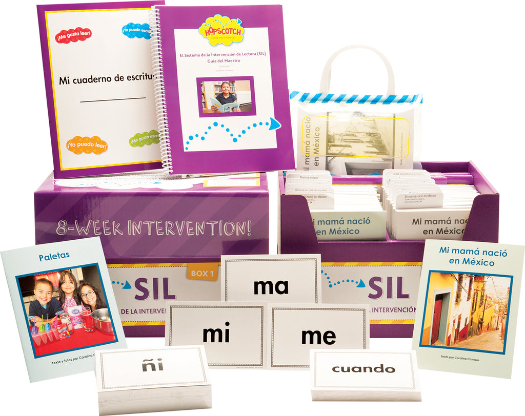 Hopscotch El Sistema de la Intervención de Lectura (SIL) - Levels J-M Purple Kit