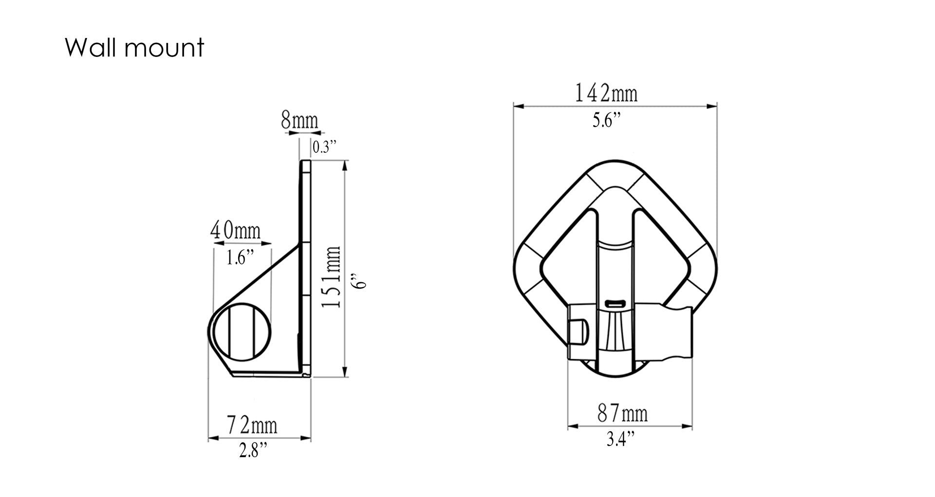 Cirrus Magnetic Wall Mount Dimensions